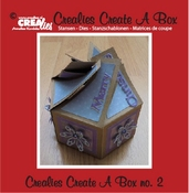 Crealies Create A Box no. 2 6 kantig doosje per stuk