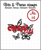 Crealies stempel Bits & Pieces stempel no 14