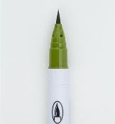 Zig Clean Color Real Brush Olive Green