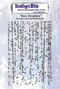 IndigoBlu stempel Rain Droplets A6