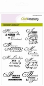 Stempel A6 - tekst ENG Christmas wishes