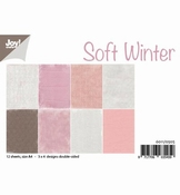 JoyCrafts papier Soft Winter - roze