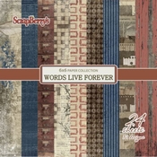 Words Live Forever - 6x6 Inch - 170 gsm  per stuk