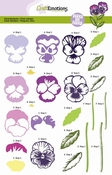 Step clearstamps A5 - violen Sweet Violets Per stuk