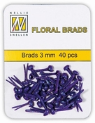 Nellie`s Choice Floral brads Glitter Paars