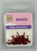 Nellie`s Choice Floral brads Kerstrood  3mm 40 ST