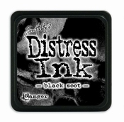 Distress Mini Ink Ink  - black soot
