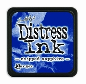 Distress Mini Ink Pad - chipped sapphire per stuk