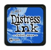 Distress Ink Mini Faded Jeans