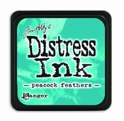 Distress Ink Mini Peacock Feathers