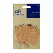 Cork Tags (6 pcs) per stuk