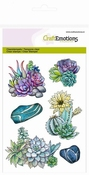 CraftEmotions clearstamps A6 - cactus vetplant Botanical Nat Per stuk