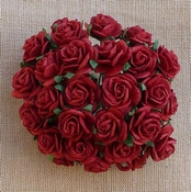 Mulberry Paper Rozen - DONKER ROOD