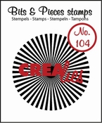 Crealies stempel Bits & Pieces no. 104 Sun rays straight 42