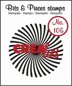 Crealies stempel Bits & Pieces no. 105 Sun rays bended 42 mm