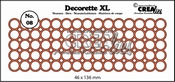 Decorette XL no. 08 rond  46x136 mm per stuk