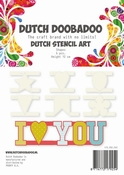 Dutch Doobadoo Stencil Art Shapes  - 6 Leuke Tekens