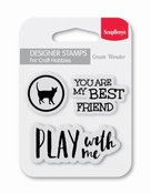 Clear Stempel You are my best friend per stuk