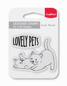 Clear Stempel Lovely Pets per stuk