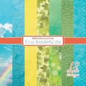 It's A Wonderfull life - Set 6x6 inch - 190gsm  per stuk