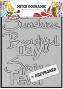 Dutch Doobadoo Greyboard Hello Sunshine