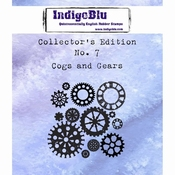 IndigoBlu stempel Collector's Edition 7 Cogs and Gears