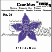 Crealies Combies no.5 Bloem A 42x42  mm
