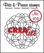 Crealies stempel Bits & Pieces no. 103 Mandala C 44 mm