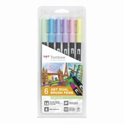 Tombow ABT Dual Brush 6st set Pastel
