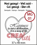 Crealies stempel Mooi gezegd (UK) no 1 hart 37x40mm - Happin