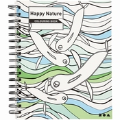 Kleurboek Happy Nature 18,5 x 23