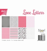 Joy Crafts Papierset Love Letters per stuk