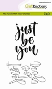 CraftEmotions clearstamps A6 | Just be You (ENG)