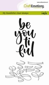 CraftEmotions clearstamps A6 | Be you ti ful (ENG)