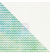 Resist Canvas White Zig-Zag pattern