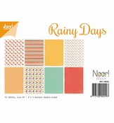 Joy Crafts Papierset Rainy Days per stuk