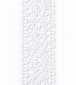Kant lint Chantilly Wit  - 22mm breed