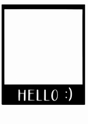 SnipArt | Chipboard | softboard Frame Hello