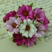 Mulberry Paper Chrysanthum - Chrysant Paars / Wit