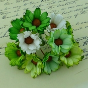 Mulberry Paper Chrysanthum - Chrysant Groen / WIt