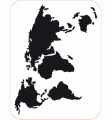 Foam stempel - World Map