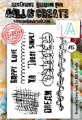 AALL & Create Stamp Set #15 - Happy Love Enjoy per stuk