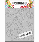 Dutch Doobadoo Greyboard Art Gears - tandwielen - steampunk