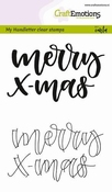 CraftEmotions clearstamps A6 | Merry x-mas