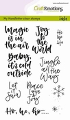 CraftEmotions clearstamps A6 | Text x-mas small