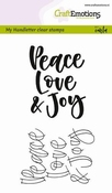 clearstamps- My Handletter - Peace Love... per stuk