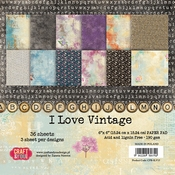 Craft & You | Paperpad 6 x 6 inch - I love Vintage