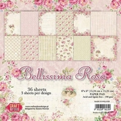 Craft & You | Paperstack 6 x 6 inch - Belissima Rosa