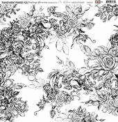 13@rts | Transparante sheet Vintage flowers | 13 arts