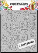 Dutch Doobadoo Greyboard Art Cijfers - numbers